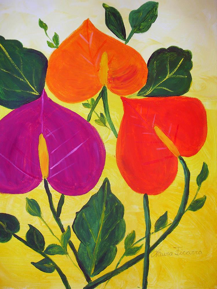 flower paintings online gallery