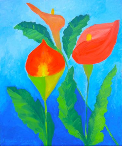 original floral paintings by artist