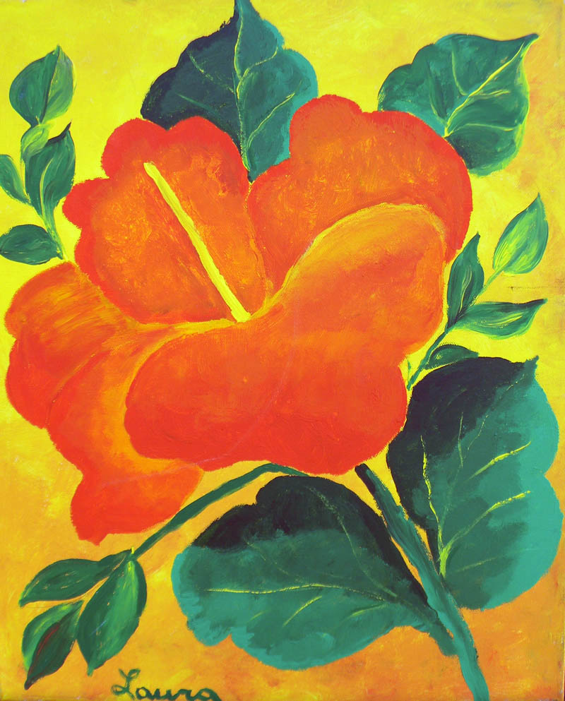 laura ficarra original floral paintings