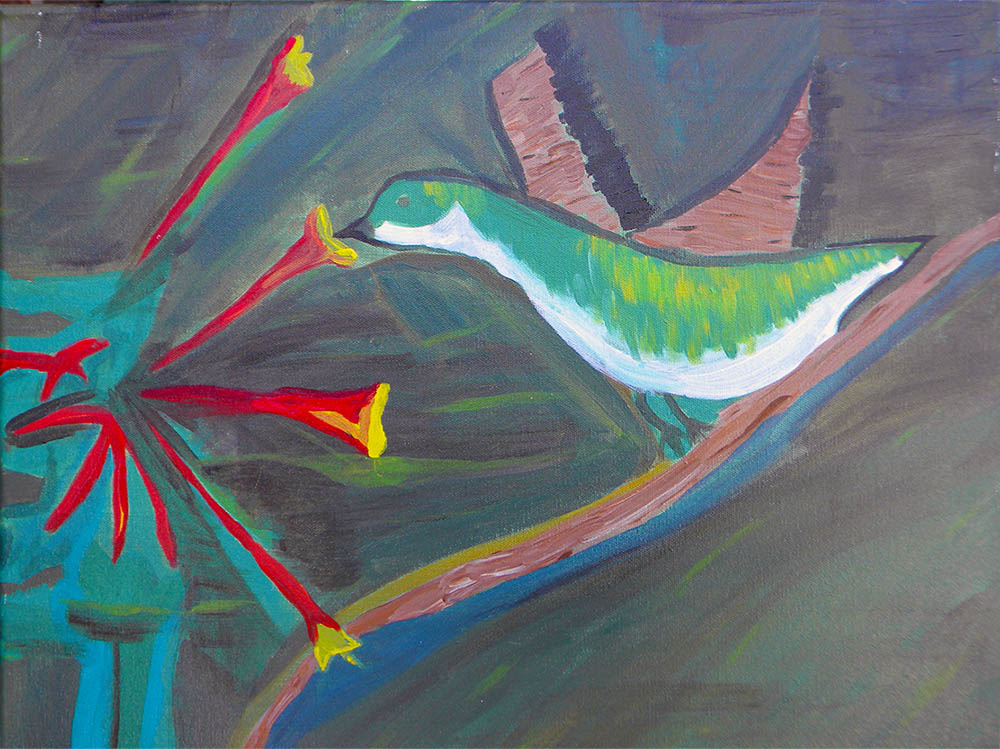 The Hummingbird nature painting gallery